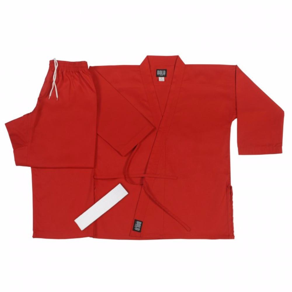 Bold Middleweight 7.5 oz Traditional Karate Uniform 300-RED - BlackBeltShop