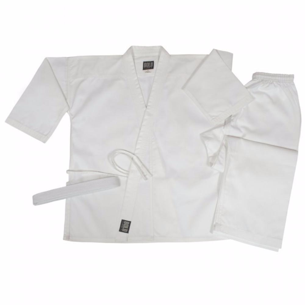 Bold Middleweight 7.5 oz Traditional Karate Uniform 300-WHITE - BlackBeltShop