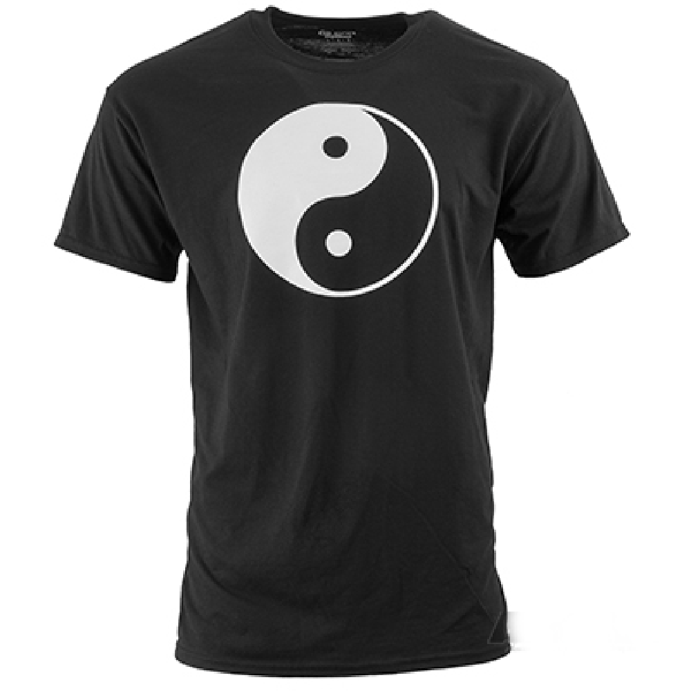Black T-SHIRT  Yin and Yang Large Logo - BlackBeltShop