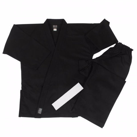 Bold 8.5 oz Super-Black Middleweight Traditional Uniform - up to size 12 350B - BlackBeltShop