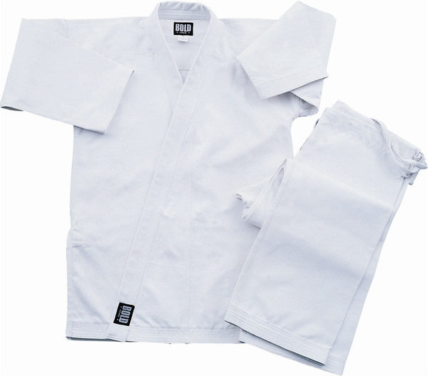 White Super Heavyweight 14oz Brushed Cotton Karate Uniform by Bold 500w