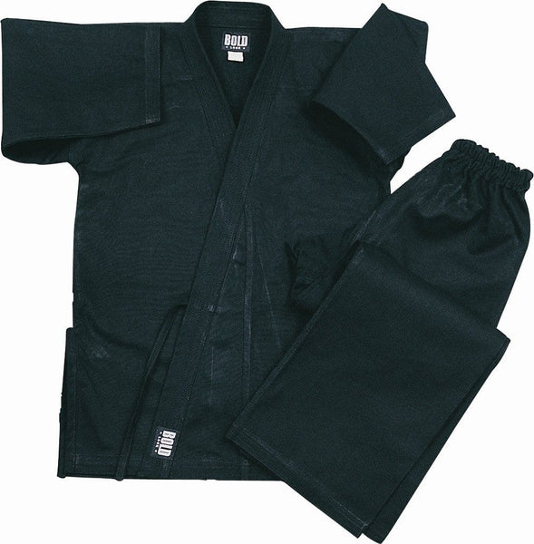 Black Heavyweight 12oz Brushed Cotton Karate Uniform by Bold 550b