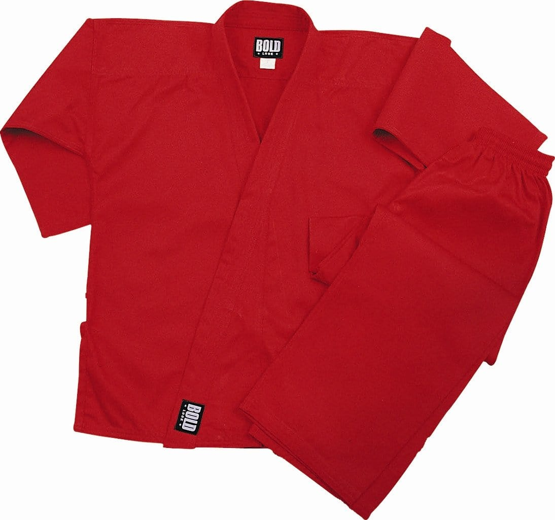 Red Heavyweight 12oz Brushed Cotton Karate Uniform by Bold 550r - BlackBeltShop