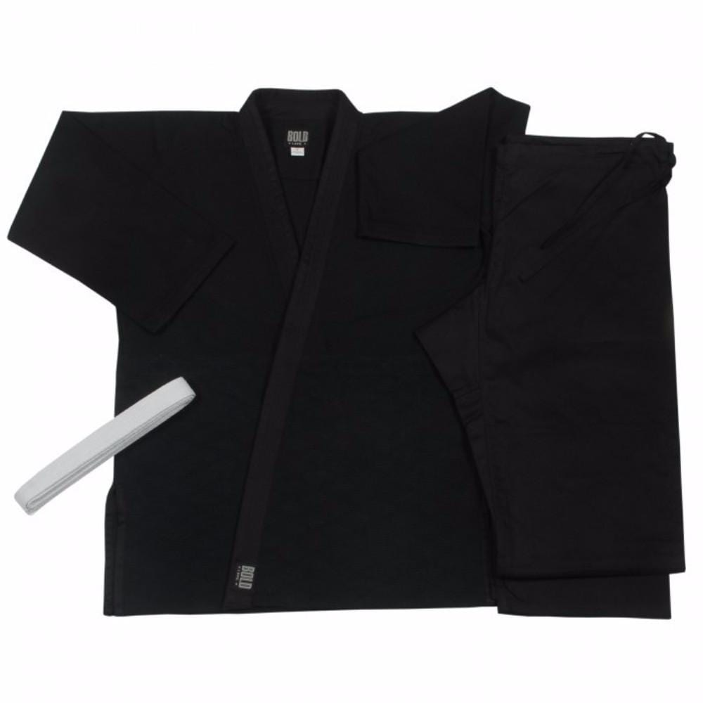 Judo  jiu-jitsu Uniform Single Weave Black uniform set 575b - BlackBeltShop