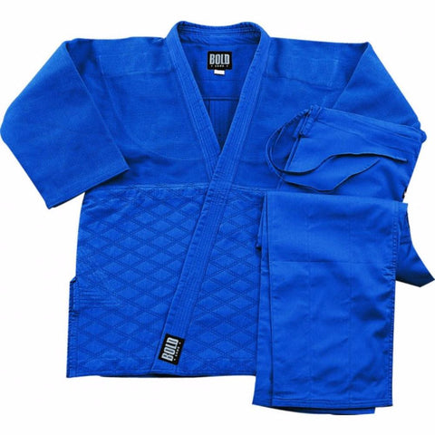 Judo  jiu-jitsu Uniform Single Weave Blue uniform set 575bu - BlackBeltShop