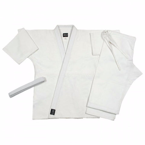 Judo  jiu-jitsu Uniform Single Weave White uniform set 575w - BlackBeltShop