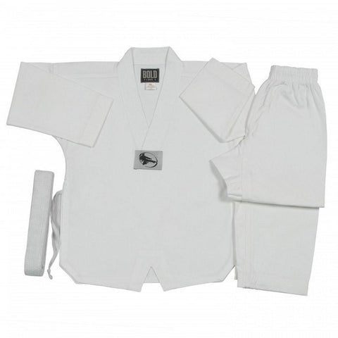 5OZ ULTRA LIGHTWEIGHT TKD V-Neck SETS by Bold  5TKD - BlackBeltShop