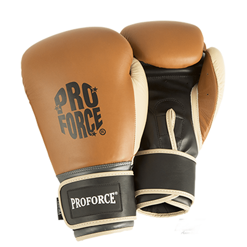 Combat By Proforce Premium Leather Boxing Gloves - BlackBeltShop