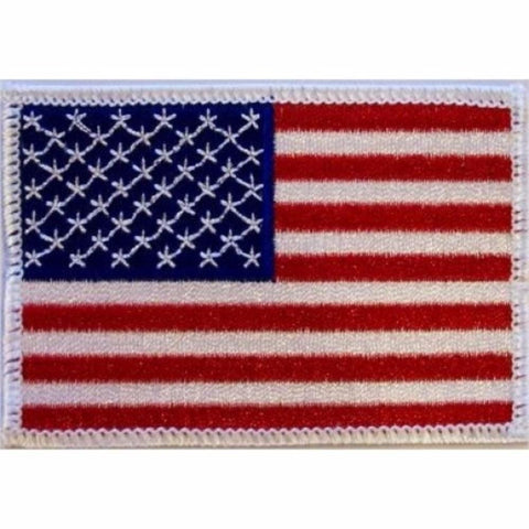 American Flag with White Trim Patch - BlackBeltShop