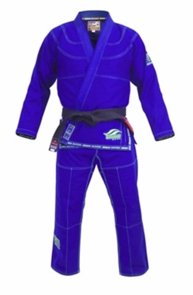 Fuji Suparaito BJJ Gi- Blue with Green Fuji-5702 - BlackBeltShop