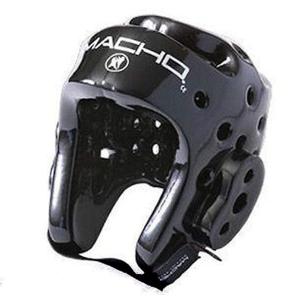 Macho Dyna Karate Sparring Head Gear with Face Shield Combo Black