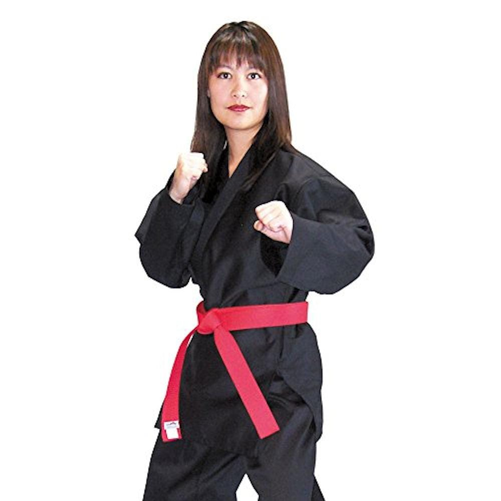 Middle Weight Black Martial Arts Karate Cotton Uniform - BlackBeltShop