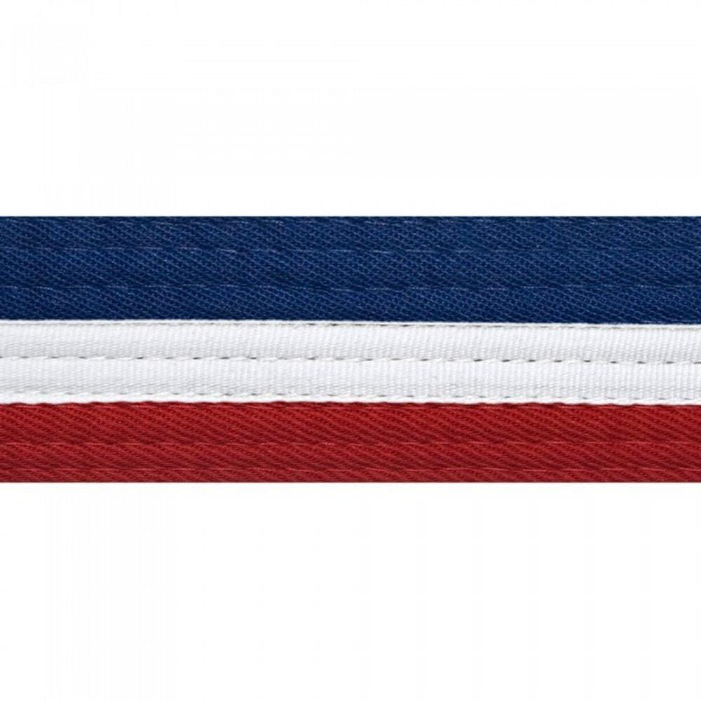 2 tones half and half martial arts karate belt with black stripe