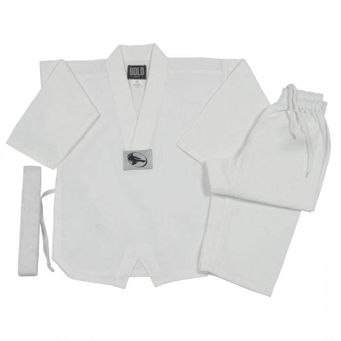 white 7 oz Taekwondo V-Neck Martial Arts Uniform