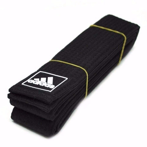 Adidas 2 inch Martial Arts Taekwondo Black Belt - BlackBeltShop