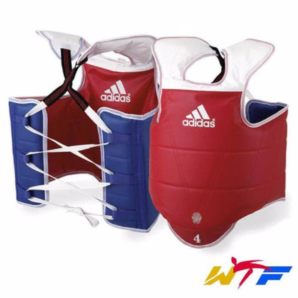 Adidas Solid Reversible Chest Guard TaeKwonDo WTF Approved - BlackBeltShop