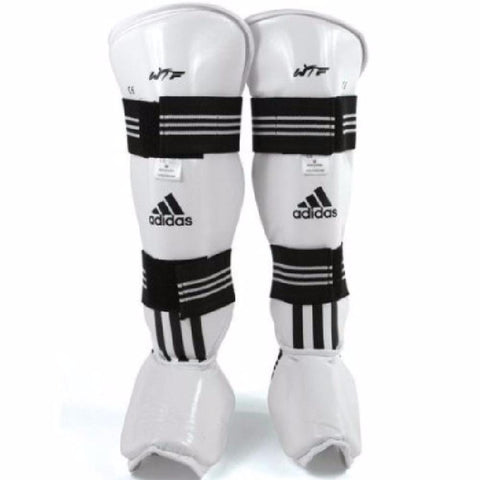 Adidas WTF Shin Instep Protector Taekwondo TKD pads ALL Sizes - BlackBeltShop