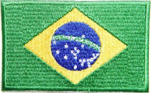 Brazilian Flag Patch 3472 - BlackBeltShop