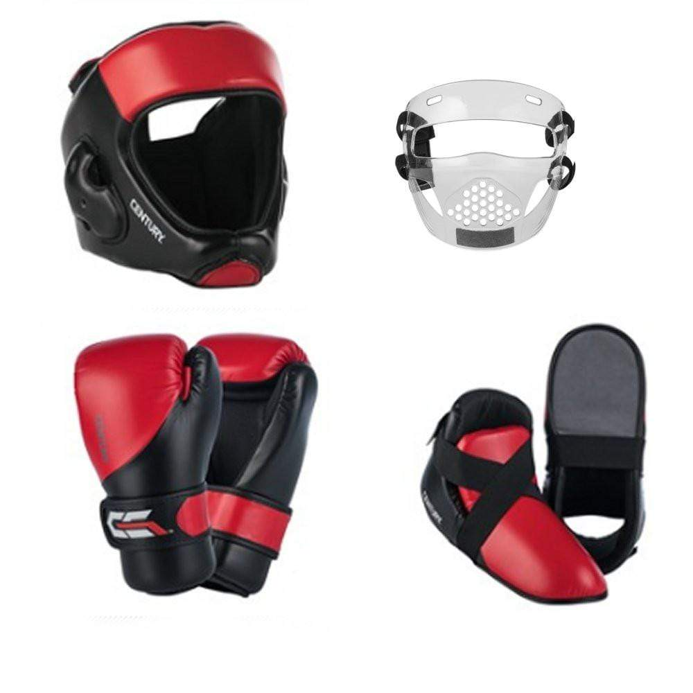 Century C-Gear 6 Piece Sparring Gear Combo Set with EVOLUTION Face Shield - BlackBeltShop