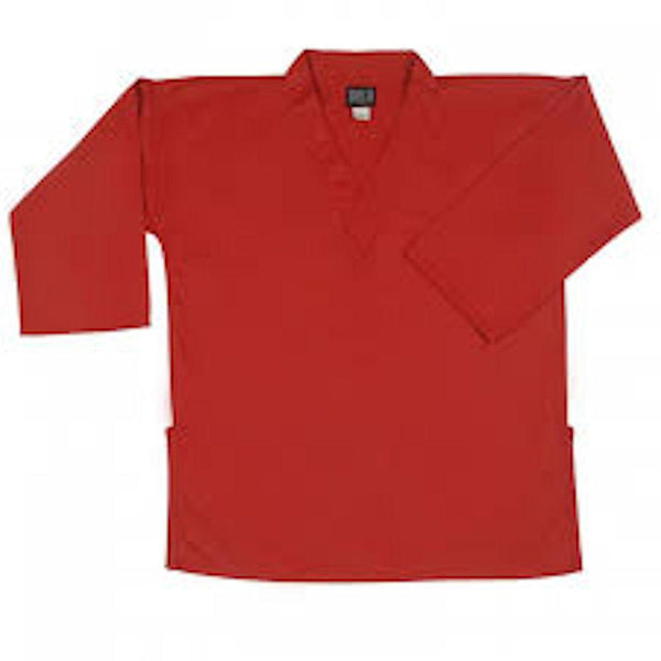 8.5 oz Middleweight V-Neck Martial Arts Top Red