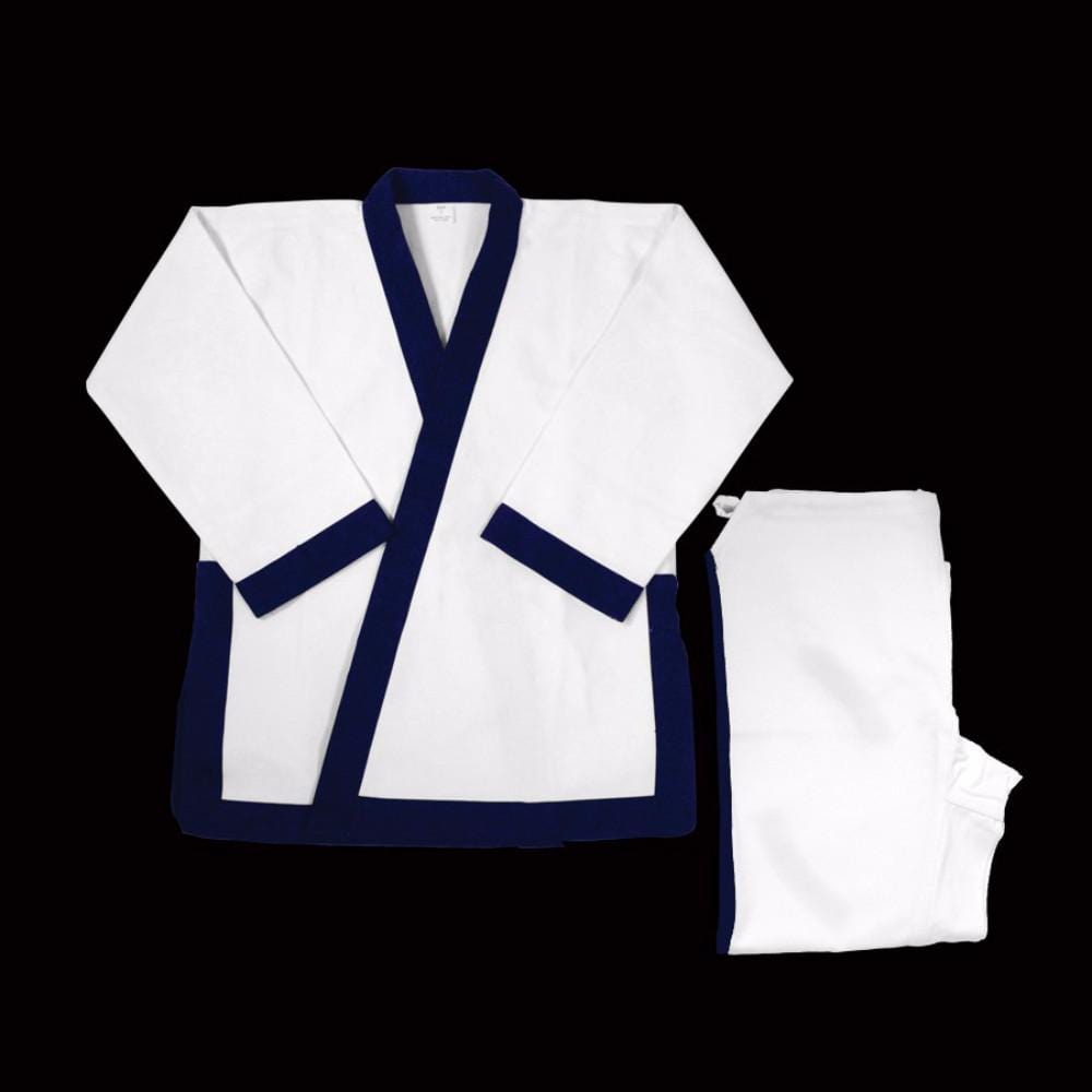 Dynamics Blue Trim 14 oz Tang Soo Do Uniform - BlackBeltShop