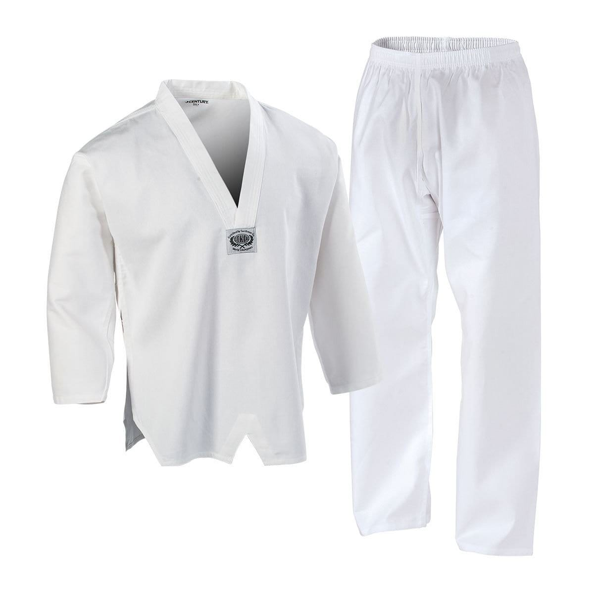 Century Lightweight TKD TaeKwonDo Uniform pink black or white c04206 - BlackBeltShop