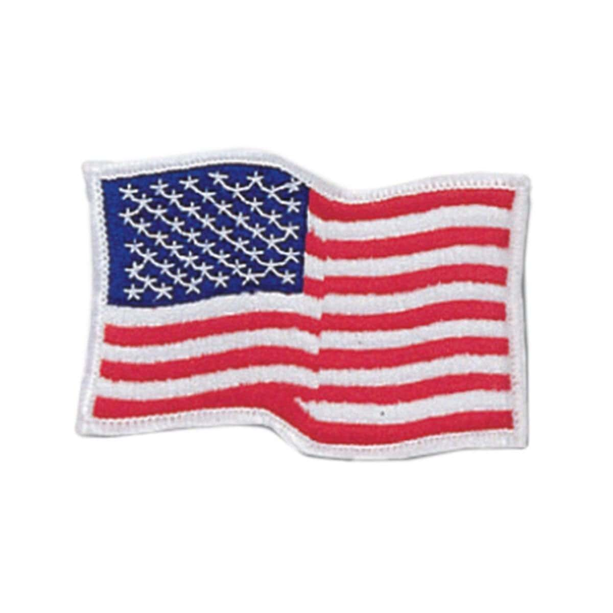 Waving American Flag Patch c0810WAM - BlackBeltShop