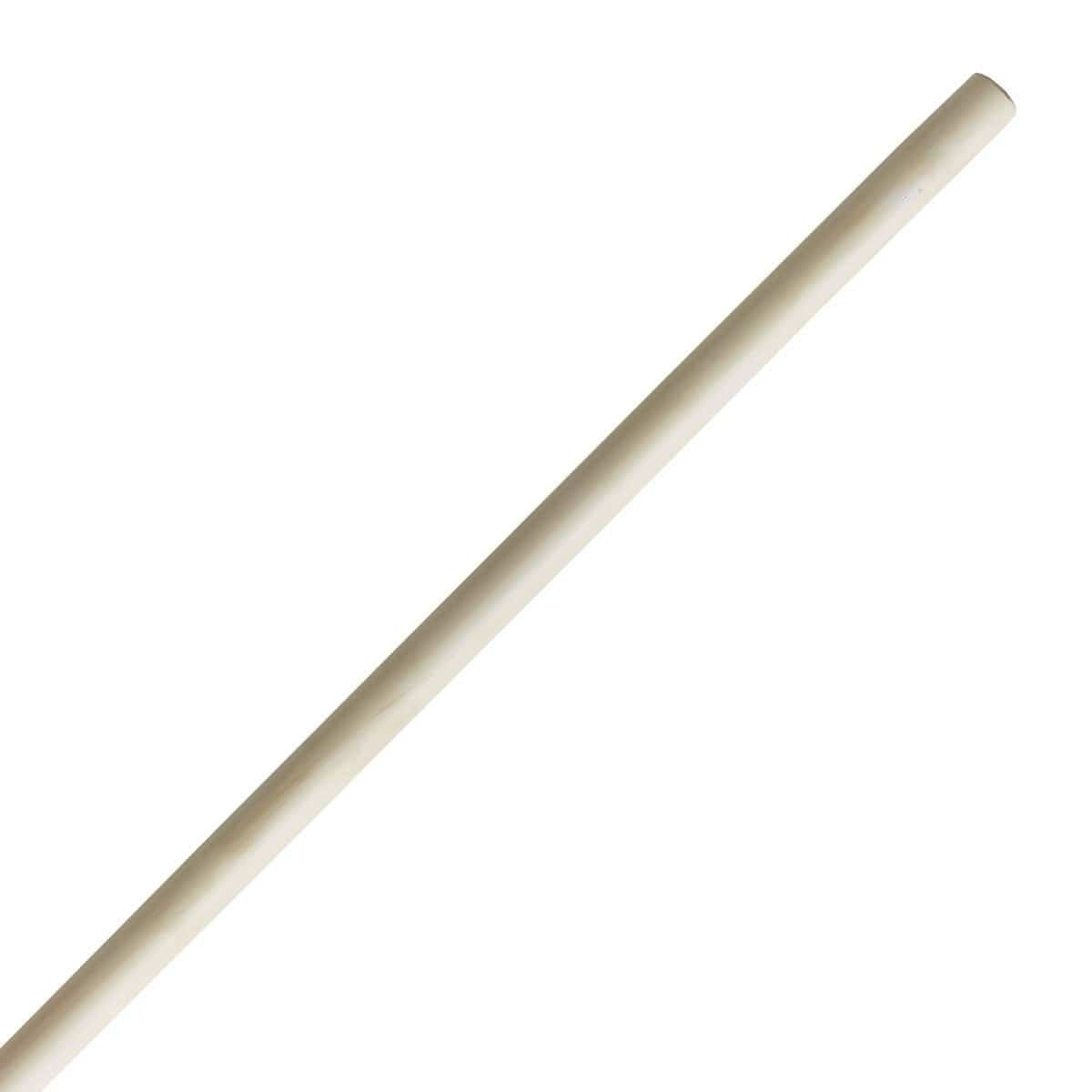 Straight White Wax Bo Staff - BlackBeltShop
