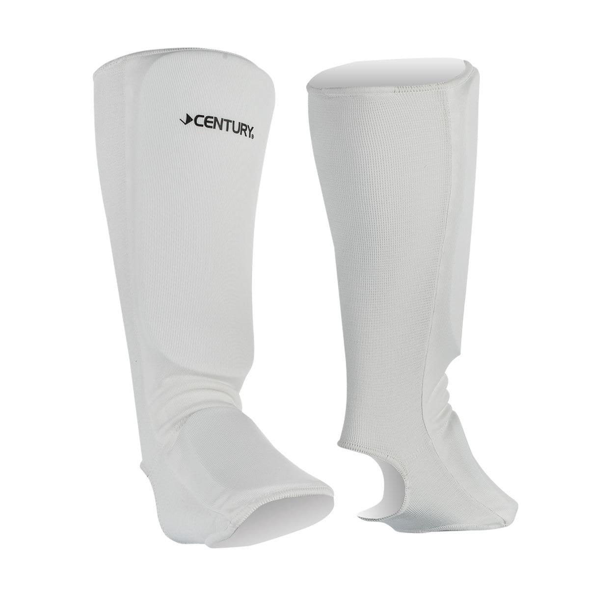 white Century Cloth Shin Instep Guards c1497