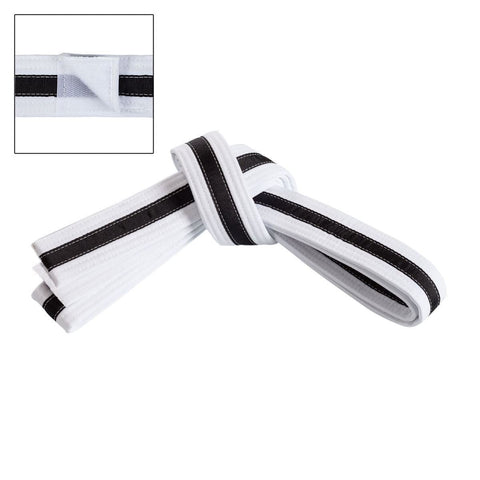 CENTURY  Adjustable Black Striped Belt c01230 - BlackBeltShop