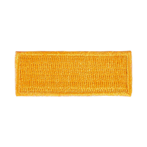 gold Iron On Stripe Patch - 10 pack