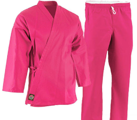 ProForce 6 oz Lightweight Student Uniform - Pink Elastic Drawstring - BlackBeltShop