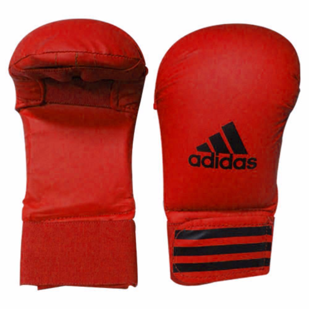wkf red karate mitts
