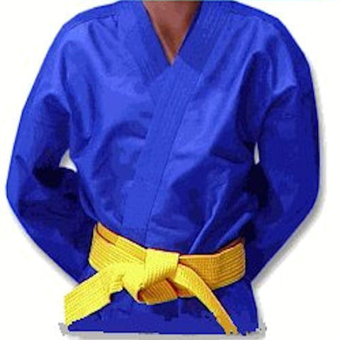 Light Weight Blue Martial Arts Karate Uniform Top Only - BlackBeltShop