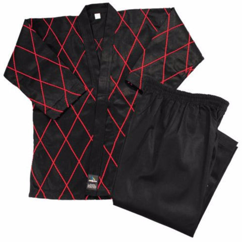Dynamics 14 oz Hapkido Uniform - Black and Red - BlackBeltShop