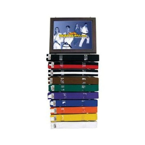 Certificate & Ranking Belt Display w/one holder by Tiger Claw - BlackBeltShop