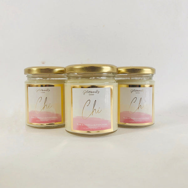 Chi - Rose and Vanilla buttercream Scented candle