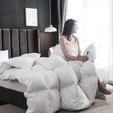 Goose Down Comforter 1000TC 100% Cotton-Poly Shell Soft 650 Fill Power