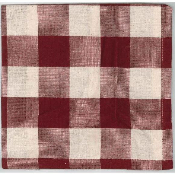 Barn Red-Buttermilk Buffalo Check Napkin - Set of Six