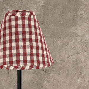 "Barn Red-Nutmeg Heritage House Check Barn Red 14"" Lampshade"