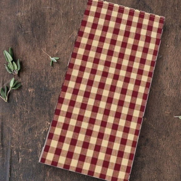 Barn Red-Nutmeg Heritage House Check Barn Red Towel - Set of Six