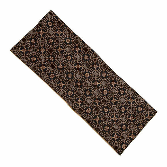 Black - Mustard Lover's Knot Jacquard Table Runner