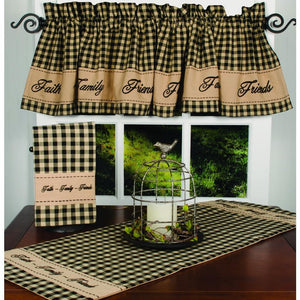 Black-Nutmeg Faith-Family-Friends Towel - Set of Two