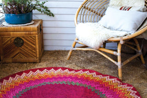 Sunburst Mat | 4' Round | Red Base