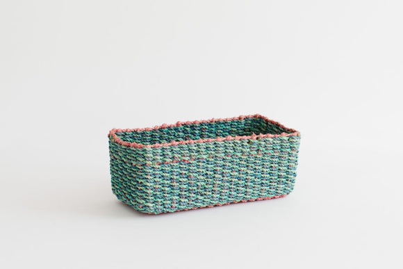 All Purpose Storage Tray | Aqua + Pink