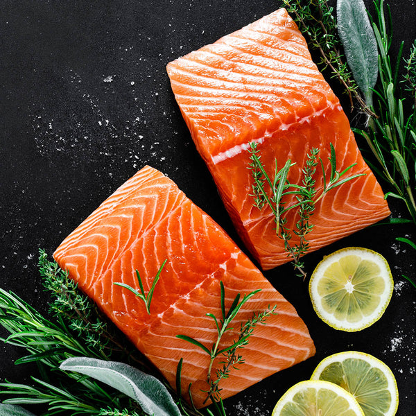Alaskan Wild Caught Salmon Fillets - Boxed Halal