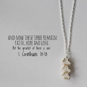 Faith Hope Love Triangles Necklace - Meaningful Jewellery and Gifts