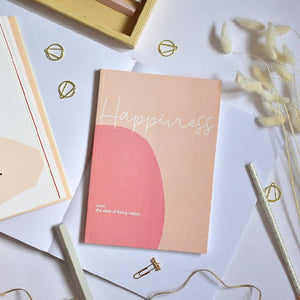 Happiness Journal with guided pages
