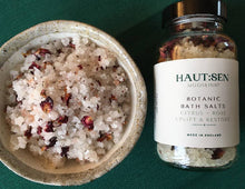 Load image into Gallery viewer, Botanic Bath Salts - Citrus Rose - Uplift & Restore - 200g - 8 doses