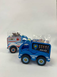 Wooden Police Truck with Sweets
